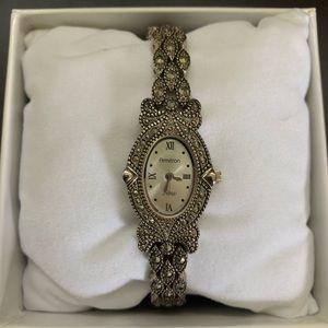 Marcasite bracelet watch
